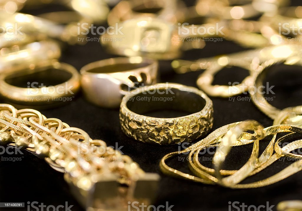 Old Gold Jewelry stock photo