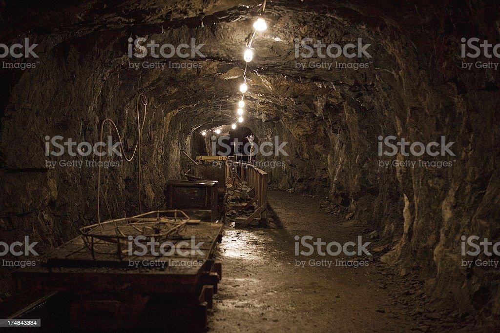Old Gold Mine Interior stock photo