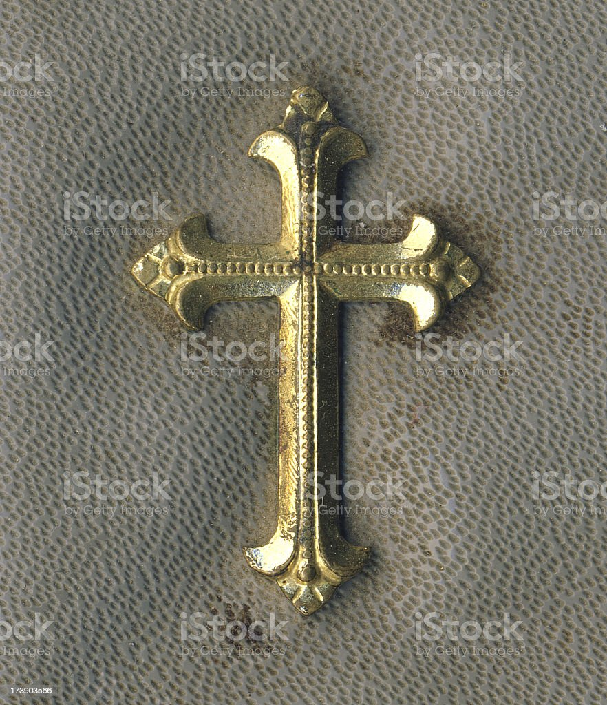 Old golden cross royalty-free stock photo