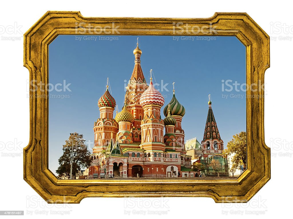 Old golden frame stock photo