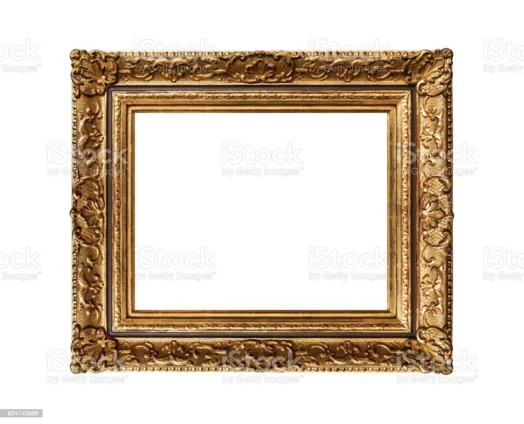 Old golden frame stock photo