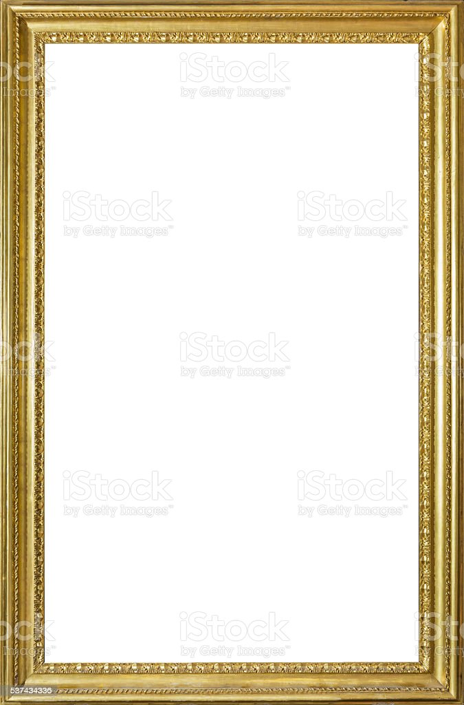 Old Golden Frame - vertical stock photo