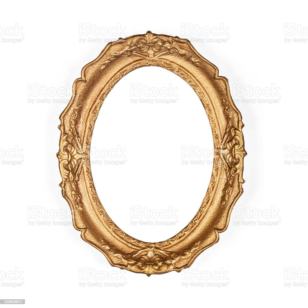 old golden picture frame stock photo