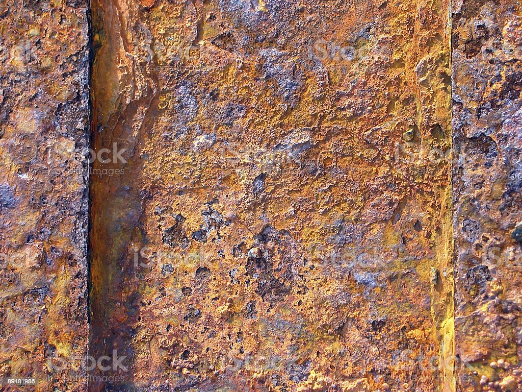Old  golden rusty metal texture/ surface royalty-free stock photo