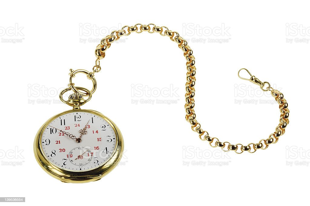 Old Golden Watch royalty-free stock photo