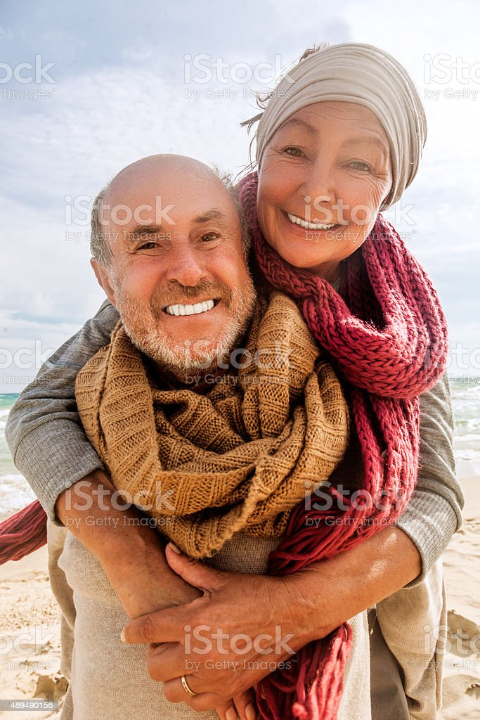 old golden years stock photo