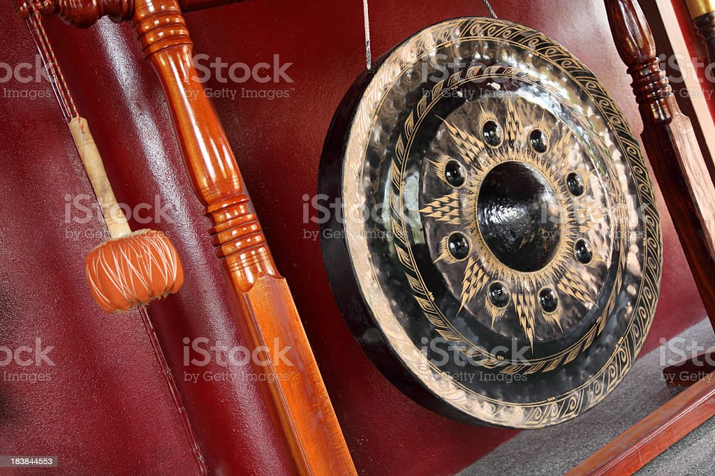 Old gong stock photo