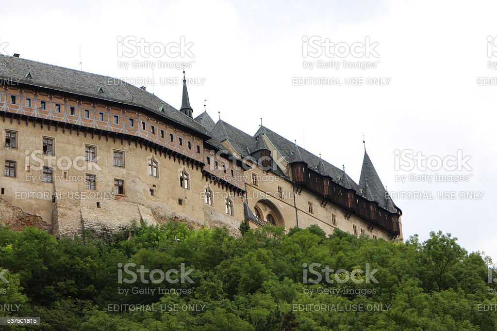 Old Gothic Castle stock photo