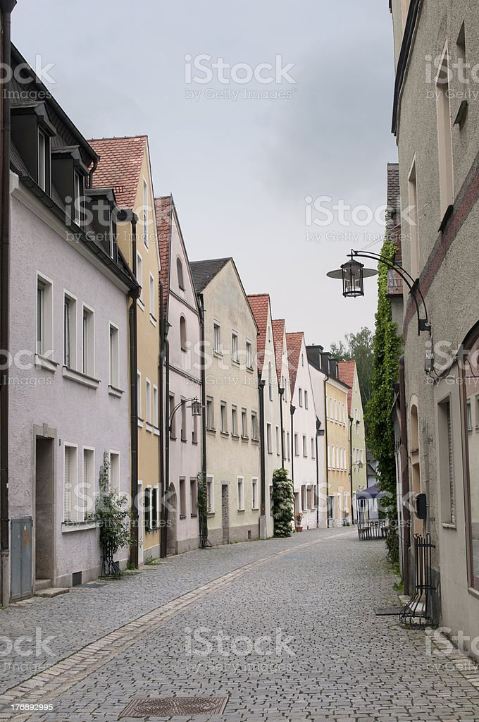 Old gothic houses in small Bavarian town royalty-free stock photo