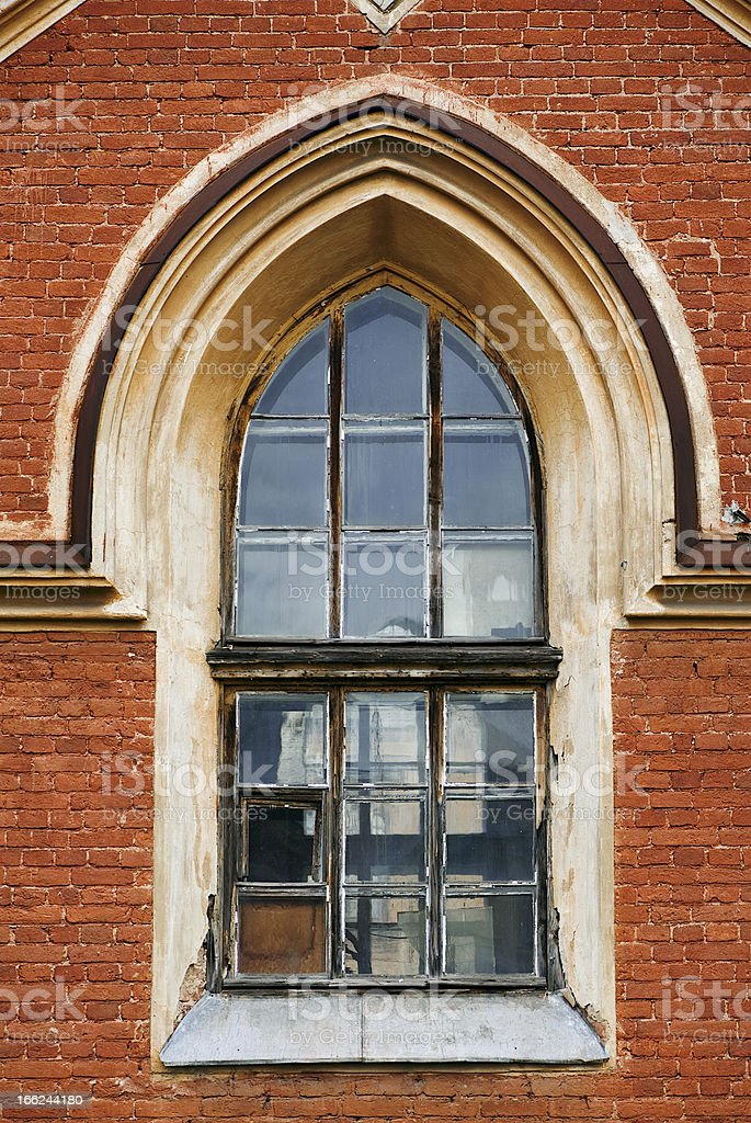 Old gothic window royalty-free stock photo