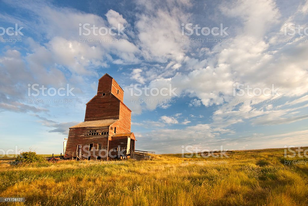 Old Grain Elevator on the Plains stock photo