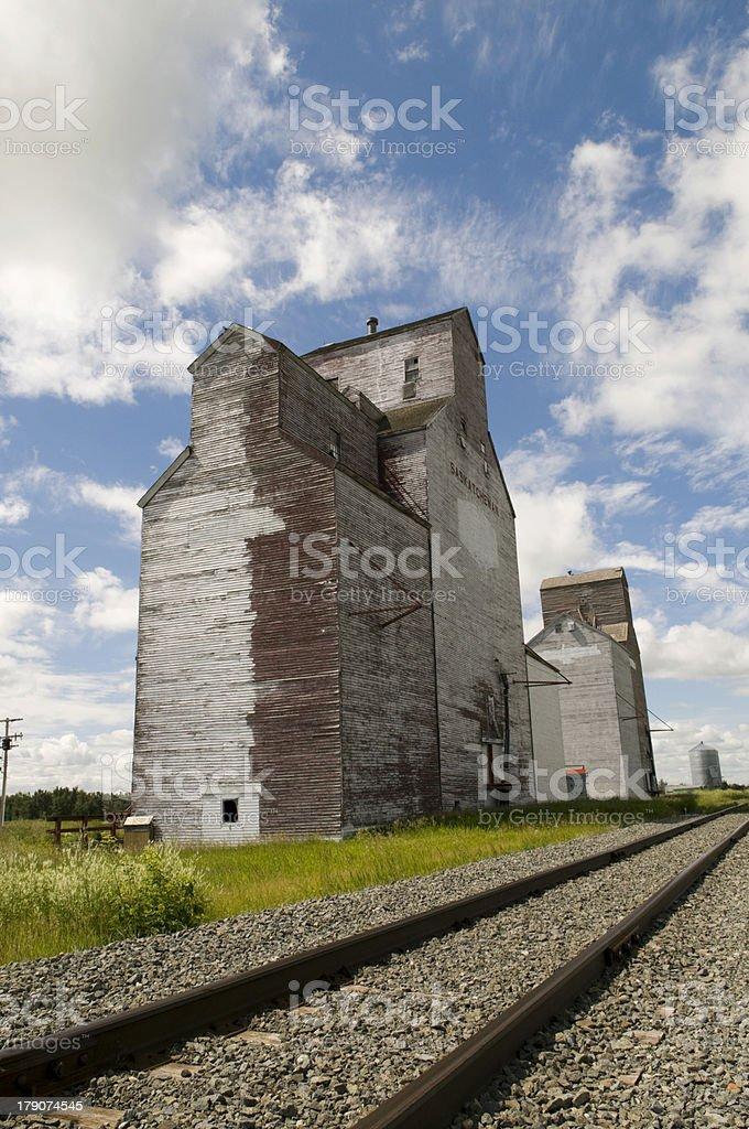 Old Grain Elevator royalty-free stock photo