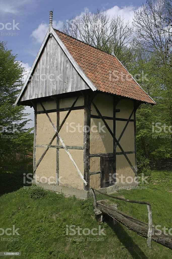 Old grain storage facilities in Germany stock photo
