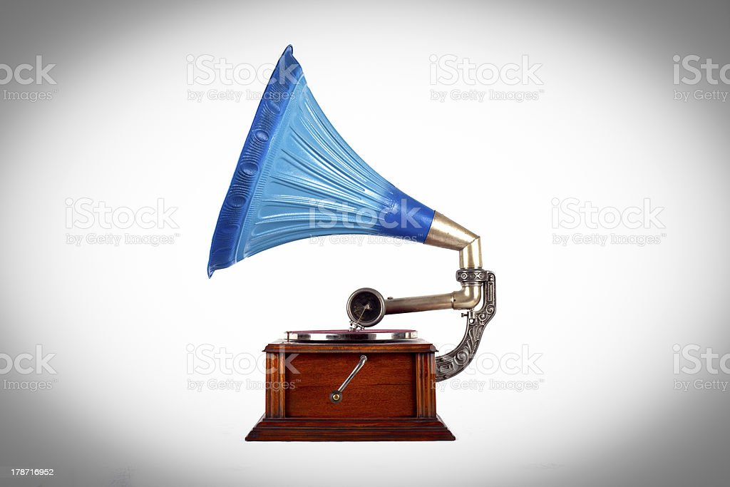 Old gramophone royalty-free stock photo