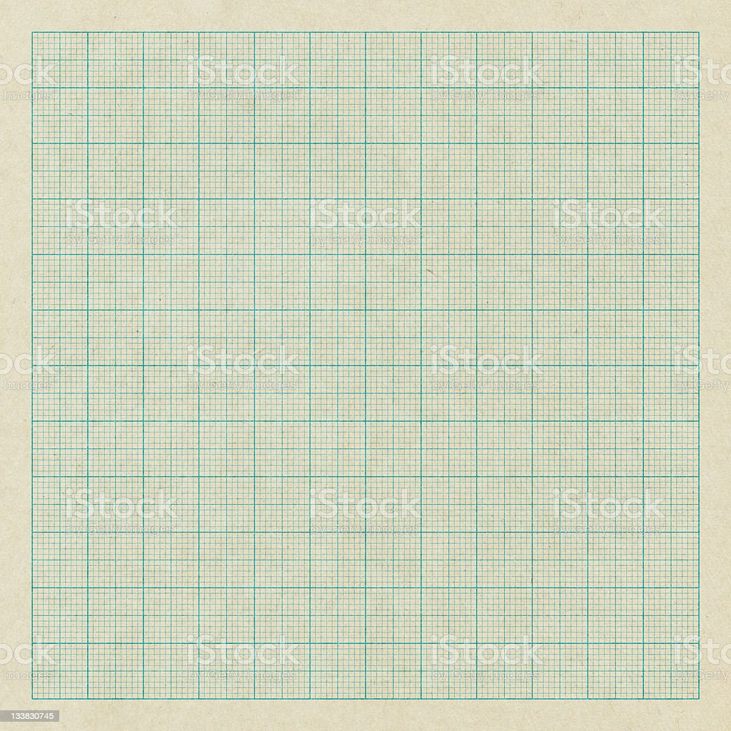 Old graph paper royalty-free stock photo