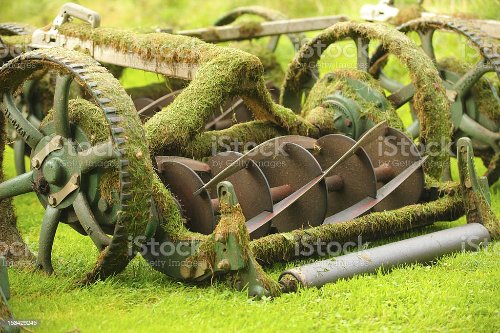 Old grass cutting machinery royalty-free stock photo