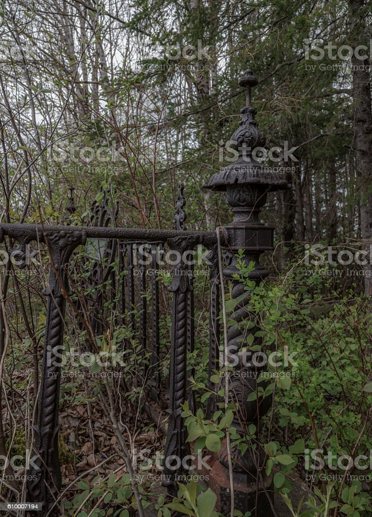 Old Grave Fence stock photo
