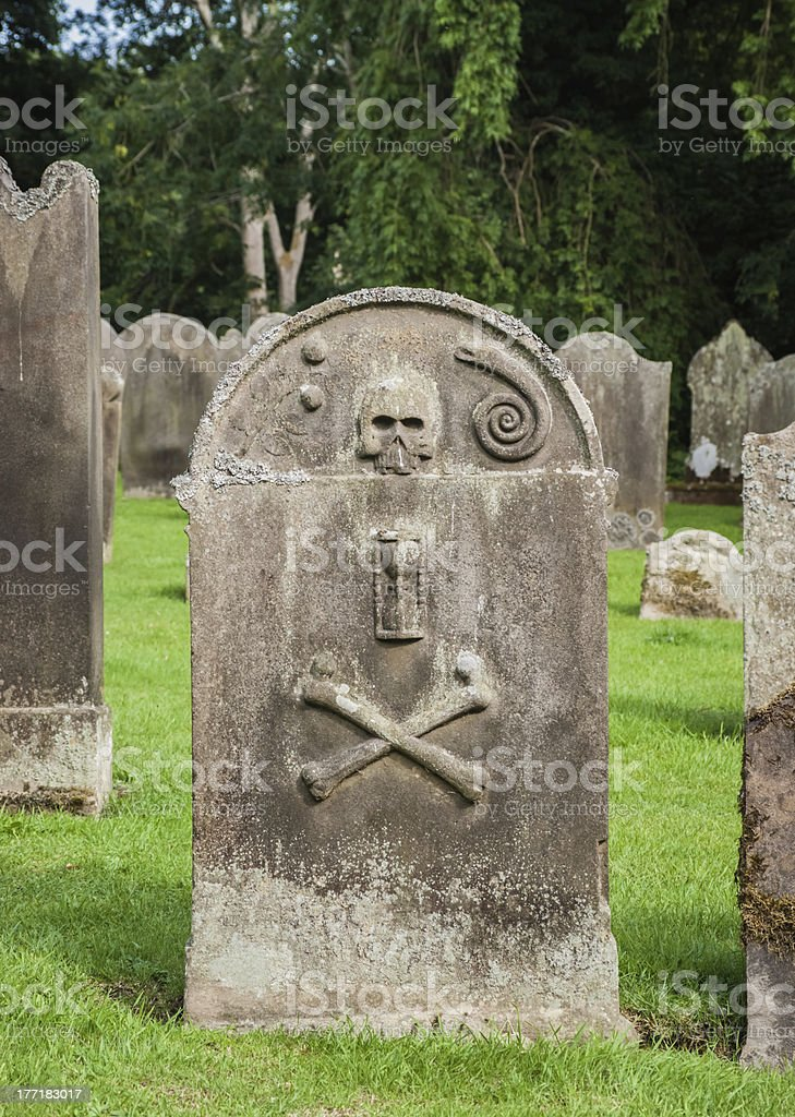 Old Grave Stone In An English Churchyard royalty-free stock photo