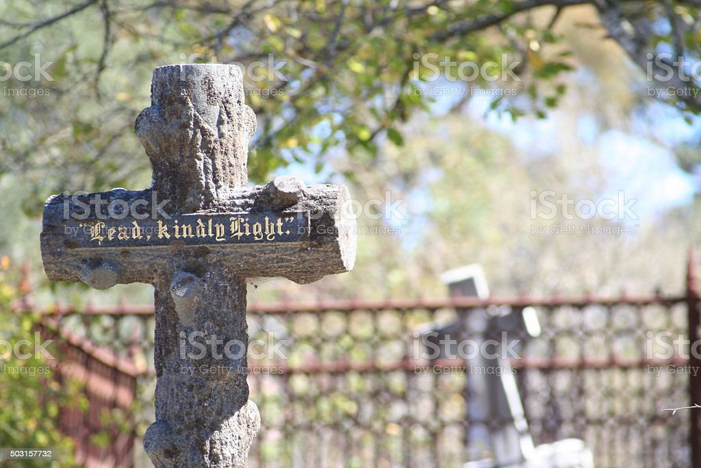 Old grave yard stock photo