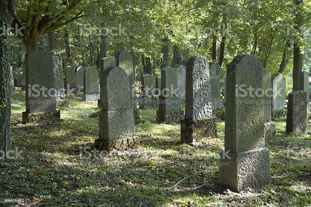 old gravestones backside royalty-free stock photo