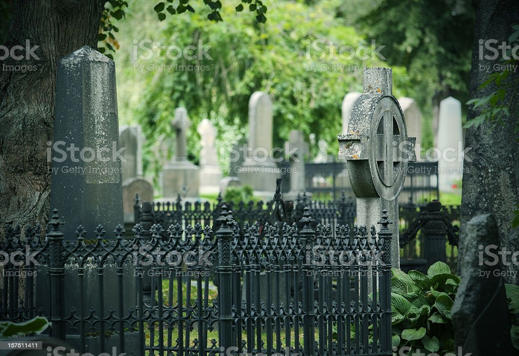 Old graveyard royalty-free stock photo