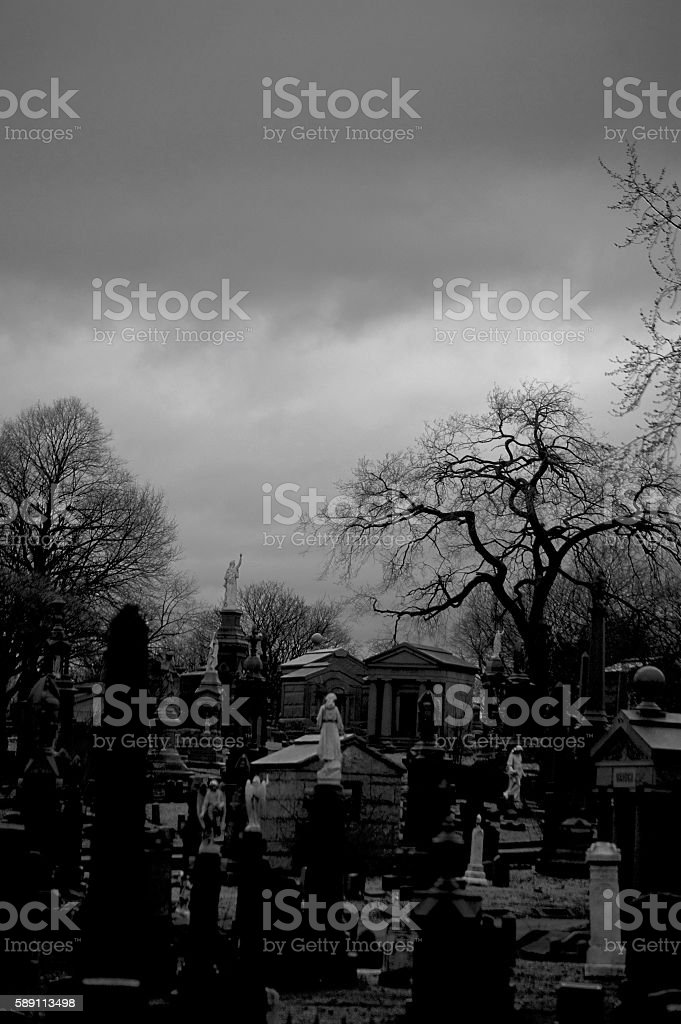 old graveyard stock photo