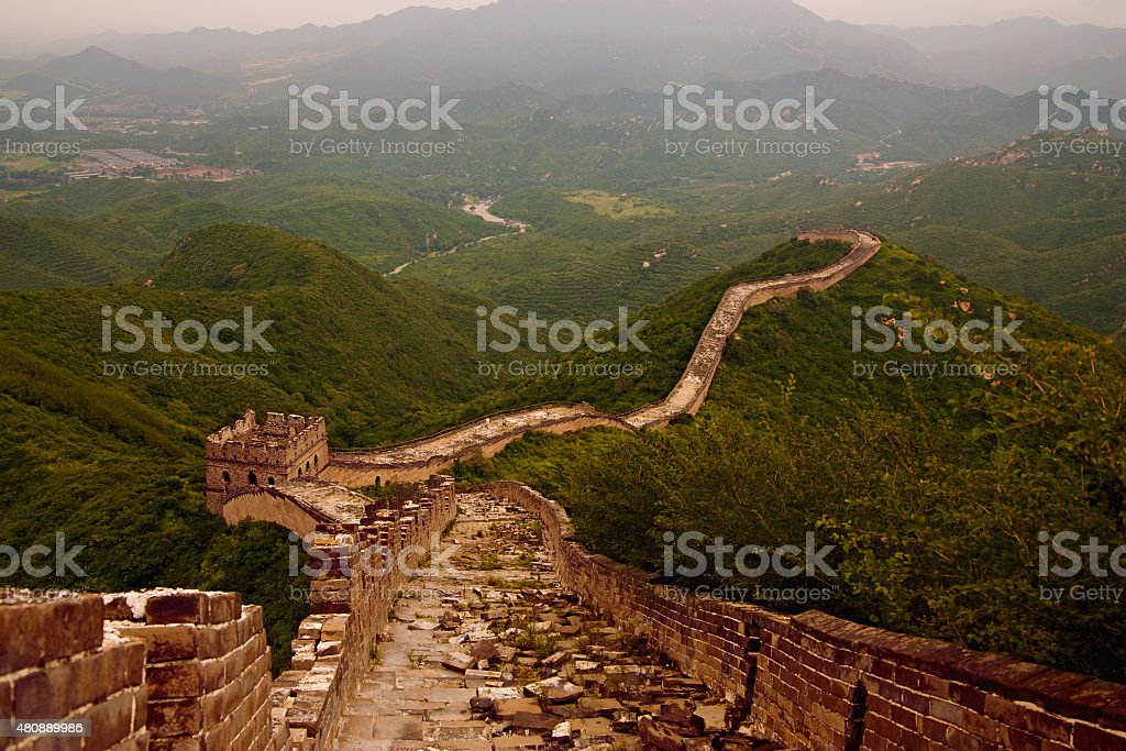 Old Great Wall royalty-free stock photo