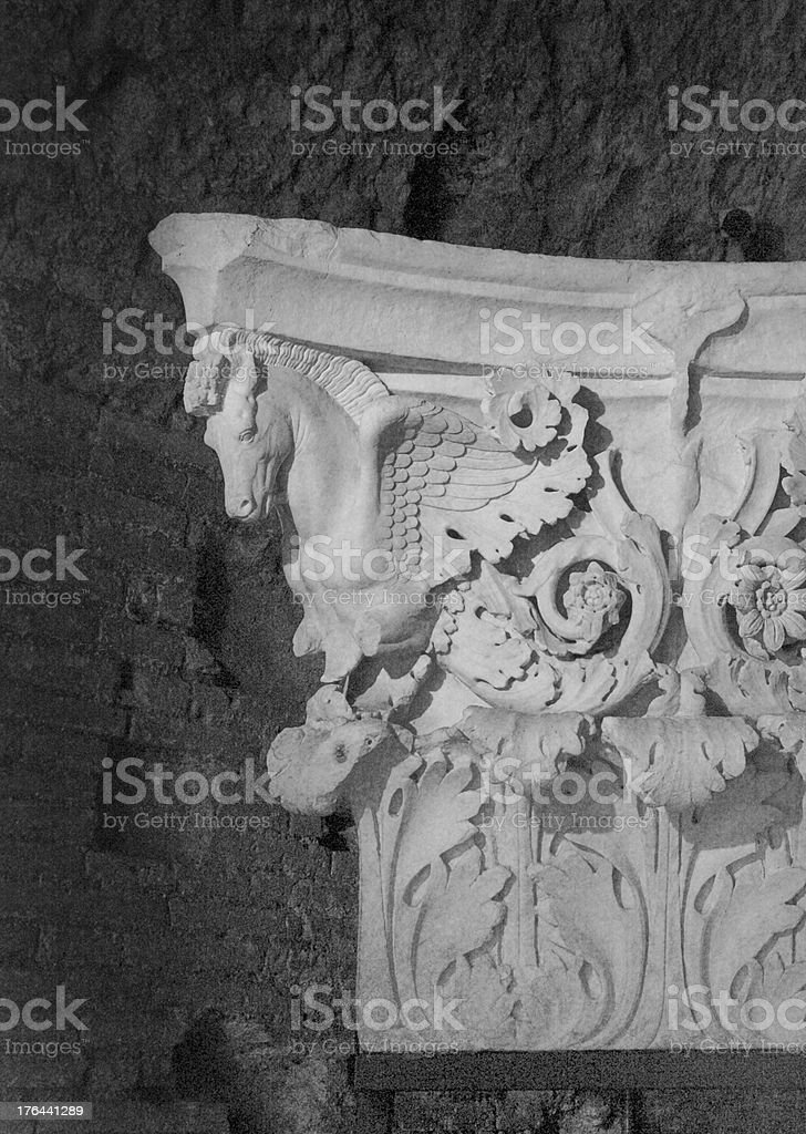 Old greek column royalty-free stock photo
