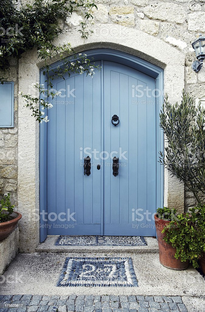 Old Greek House Entrance royalty-free stock photo