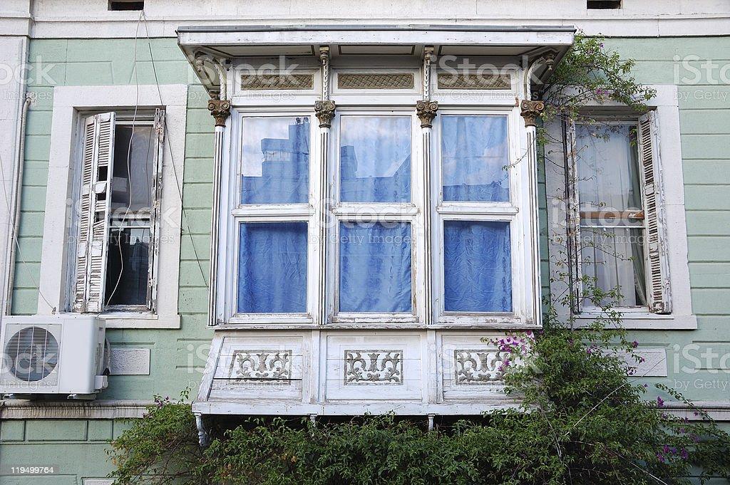Old Greek House Oriel stock photo