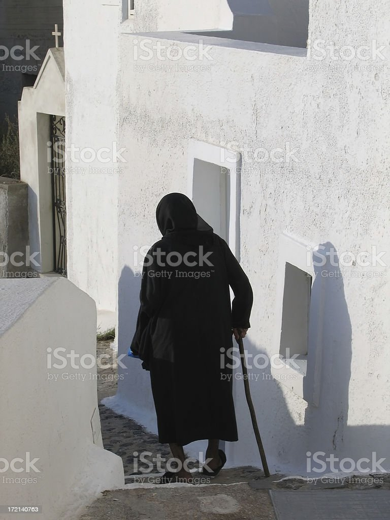 Old  greek woman royalty-free stock photo