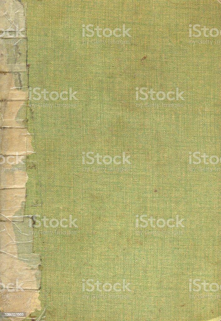 Vieille Couverture de livre vert ruban photo libre de droits