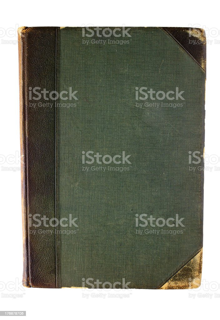 Old green book stock photo