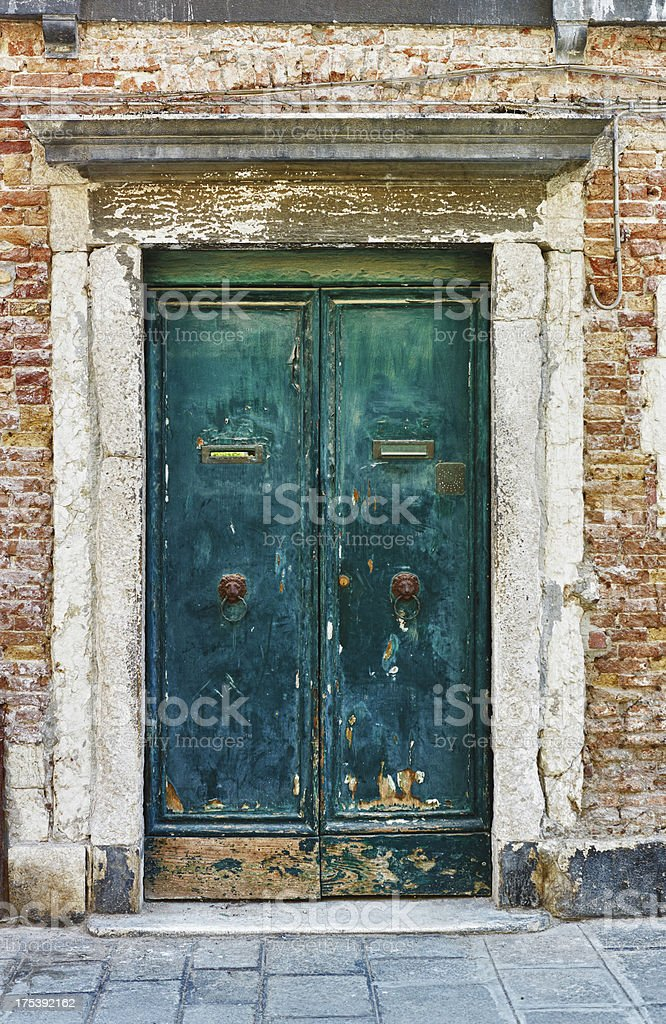 Old green Door. Color Image royalty-free stock photo