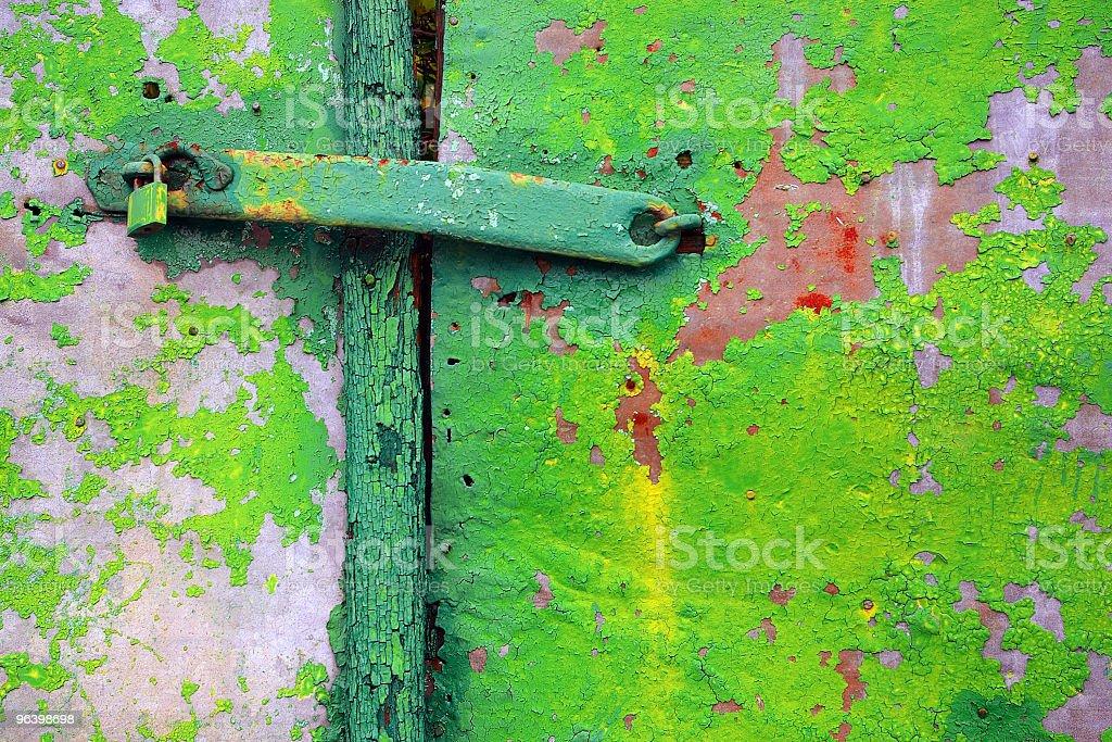 Old Green Door royalty-free stock photo