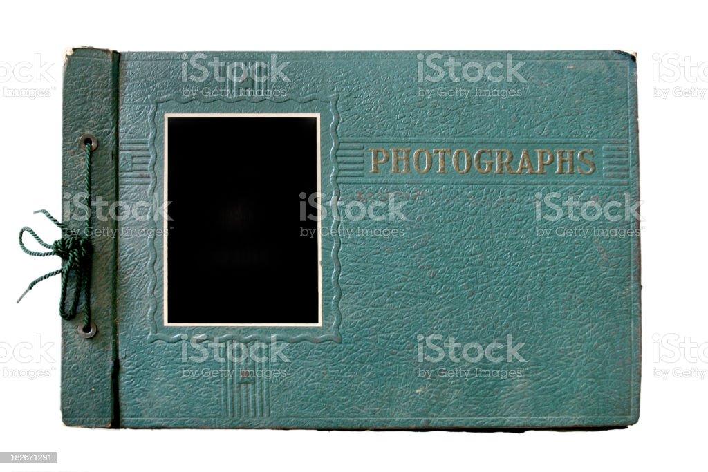Old Green Photo Album royalty-free stock photo