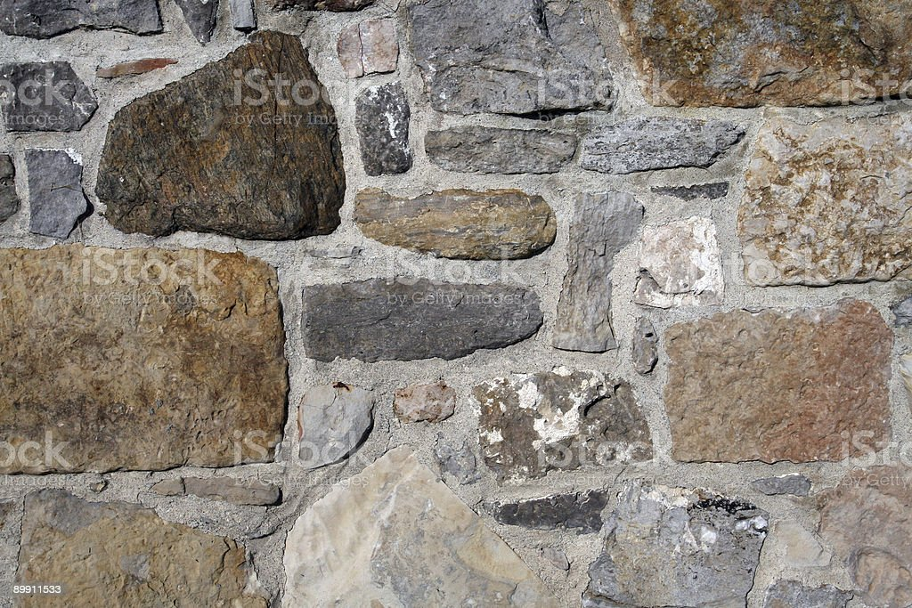 Old Grey Stone Wall Background royalty-free stock photo