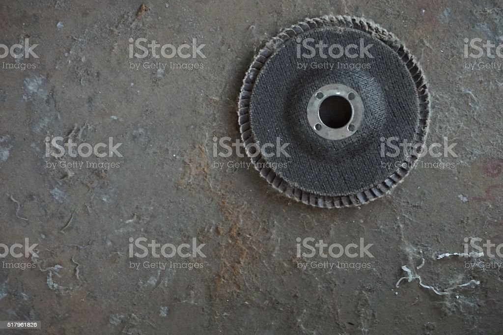 old grinding disk stock photo