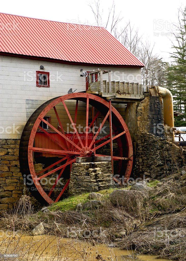 old grist mill wheel royalty-free stock photo