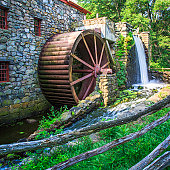 old gristmill waterwheel