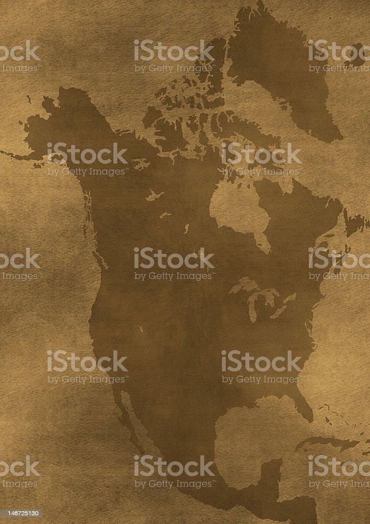 Old grunge America map illustration royalty-free stock photo