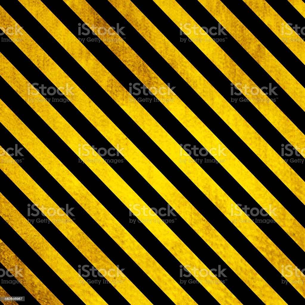 Old Grunge background with yellow and black lines vector art illustration
