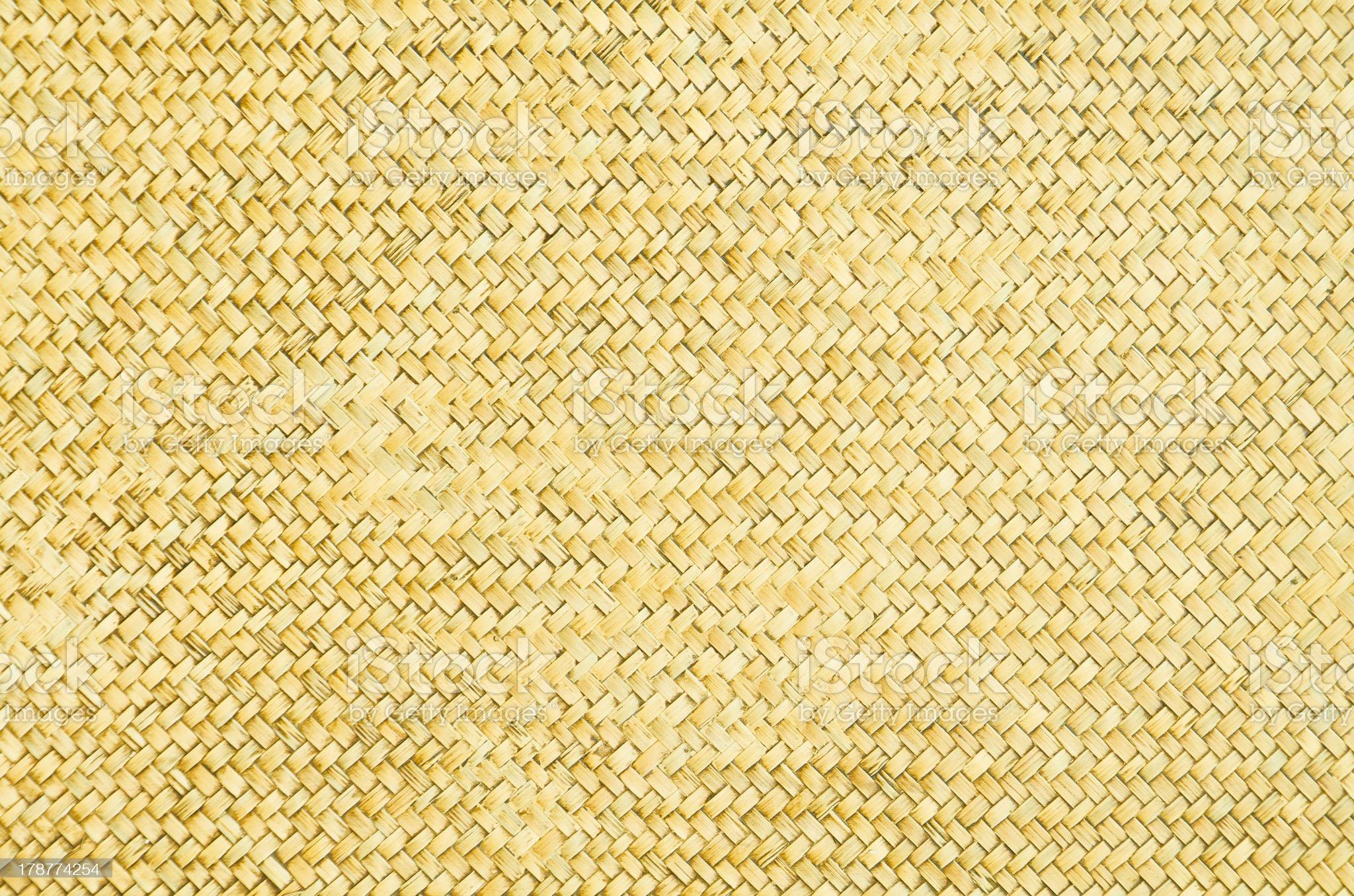 old, grunge bamboo wall royalty-free stock photo