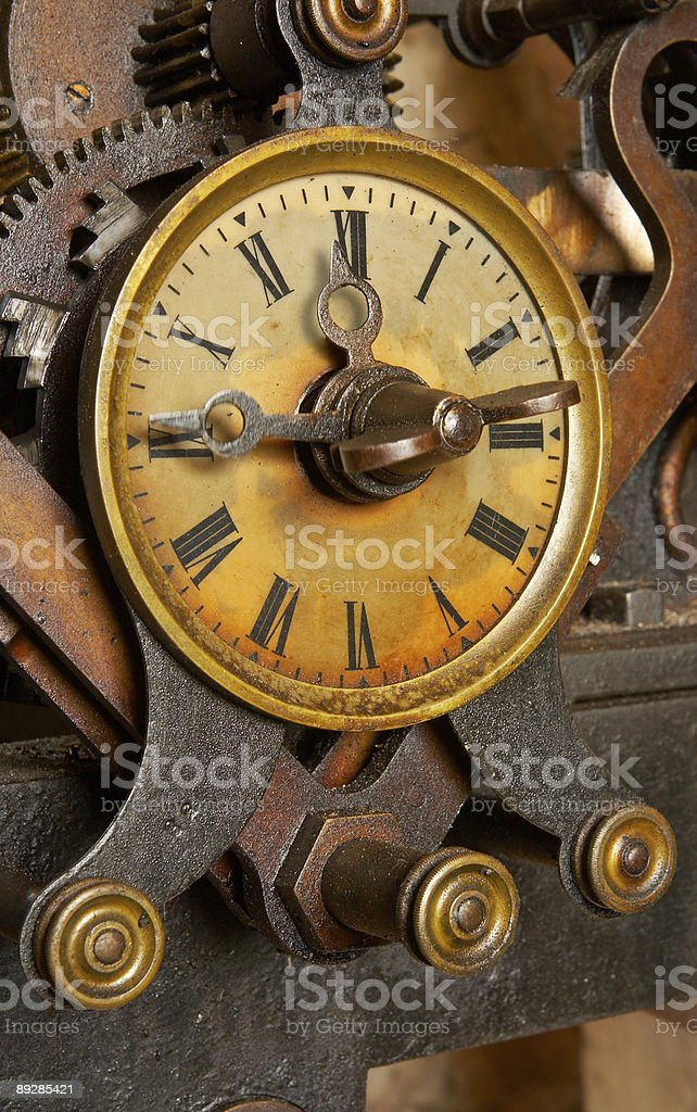 Old grunge clock royalty-free stock photo