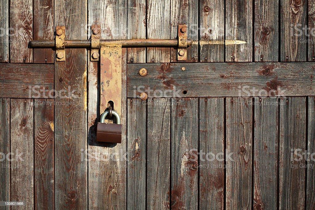 Old grunge door lock royalty-free stock photo
