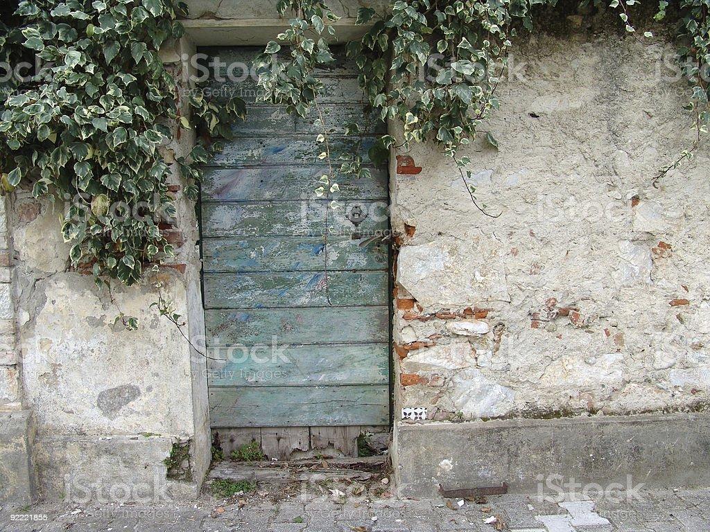 old grunge door royalty-free stock photo