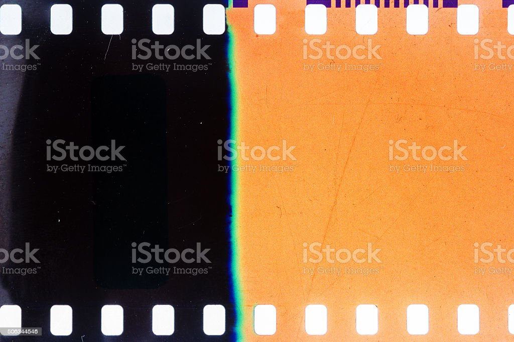 Old grunge filmstrip stock photo