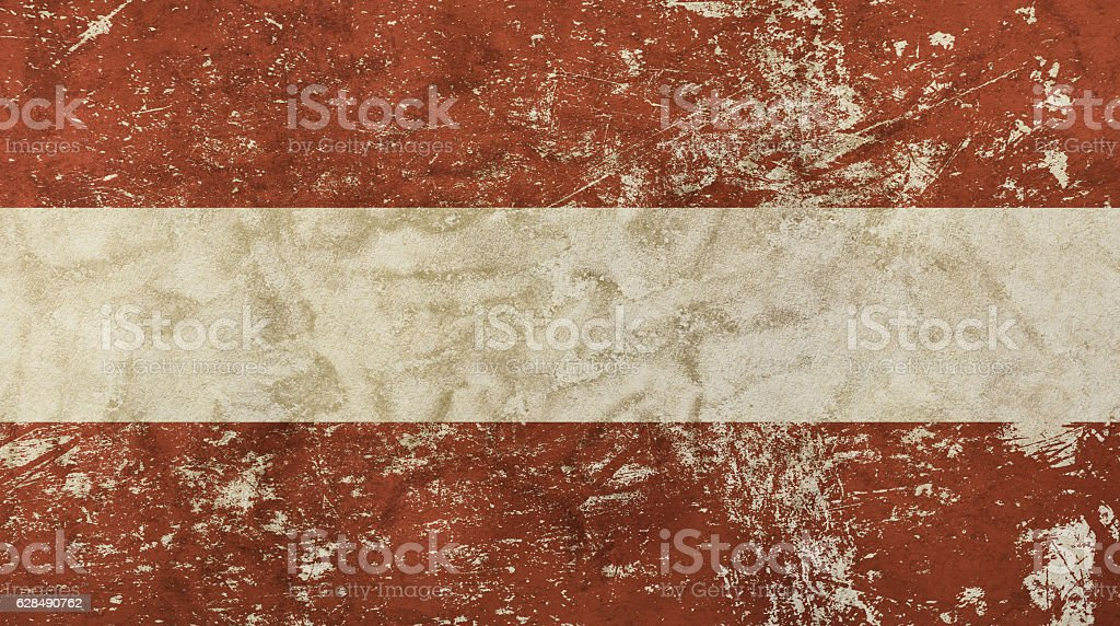Old grunge vintage faded flag of Austria stock photo
