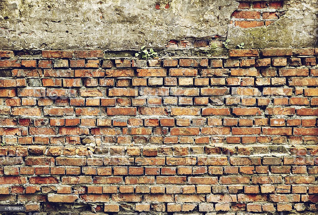 Old grunge wall royalty-free stock photo