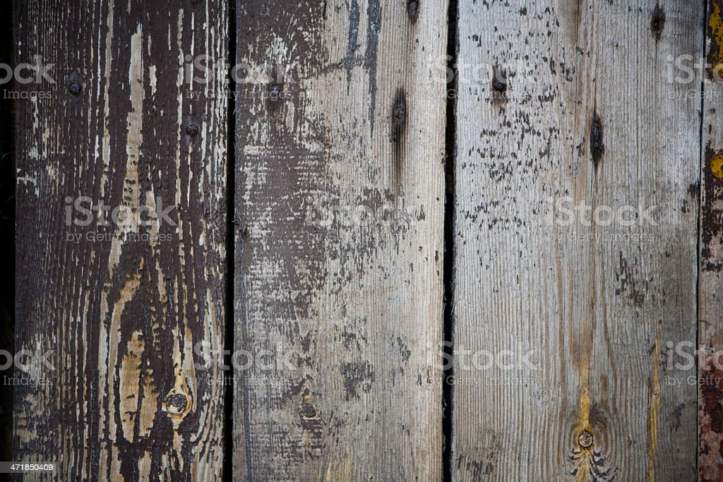 old, grunge wood panels royalty-free stock photo